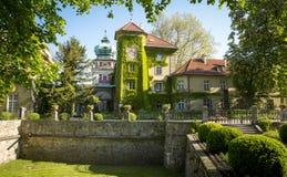 Slottmuseum i Lancut Arkivfoton