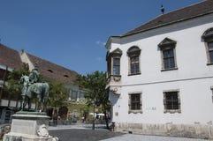 Slottområdet av den Budapest Ungern Arkivbild