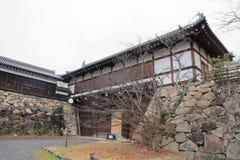 Slottport av den Koriyama slotten Fotografering för Bildbyråer