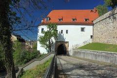 Slottport i Altenburg Arkivbild