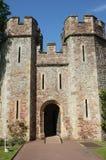 Slottporthus, Dunster, England Arkivfoton