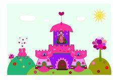 slottprincess royaltyfri illustrationer