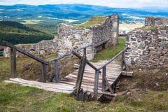 SlottPusty hrad, Slovakien Arkivfoto