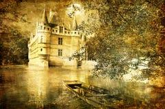 slottromantiker royaltyfri illustrationer