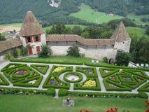 Slotts trädgård Royaltyfria Bilder