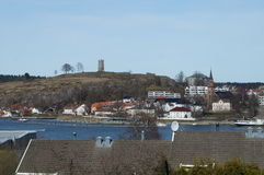 Slottsfjellet Stock Foto's