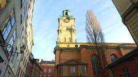 Slottskyrkankerk, de Koninklijke Kapel van Stockholm, Zweden stock video