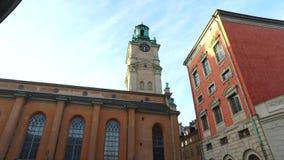 Slottskyrkankerk, de Koninklijke Kapel van Stockholm, Zweden stock footage