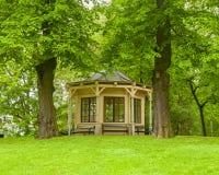 Slottsparken-Hausansicht in die Stadt Oslo stockfoto