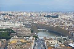 SlottSt. Angelo i Rome. Arkivfoton