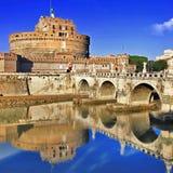 SlottSt. Angelo. Rome royaltyfria foton