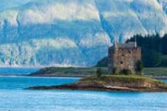 SlottStalker Skottland Förenade kungariket Europa royaltyfri fotografi