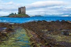 SlottStalker Skottland Förenade kungariket Europa royaltyfria bilder