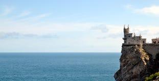 Slottsvalans rede i Krim Royaltyfri Foto