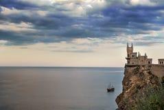 Slottsvalas rede i stora Yalta 5 arkivfoto