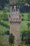 Slotttorn nära Cortona, Italien Royaltyfri Fotografi