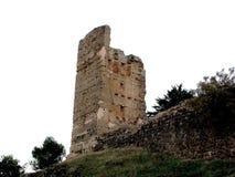 Slotttornet fördärvar in i Alcaraz, Albacete _ spain Royaltyfria Foton