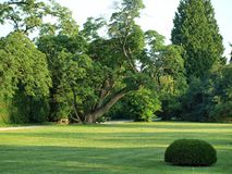 Slottträdgård Royaltyfri Bild