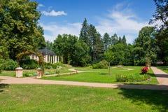 Slottträdgård Arkivfoto