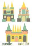 Slottuppsättning Arkivfoto