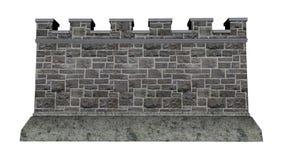 Slottvägg - 3D framför stock illustrationer