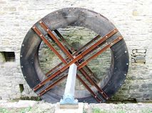 Slovène Istra - moulin sur la rivière Dragonja Photographie stock libre de droits
