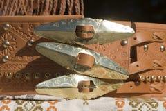 slovak детали пояса традиционный стоковое изображение rf