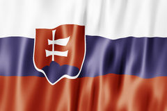slovak республики флага Стоковое Фото