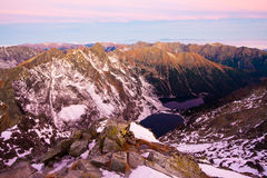 Slovak alpine panorama Stock Photography