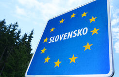 Slovak Border. Photo with Slovak border sign royalty free stock photography