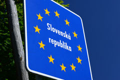 Slovak Border. Photo with Slovak border sign royalty free stock photos