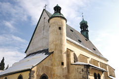 Slovak church of St. Catherine in Banska Stiavnica Royalty Free Stock Photography