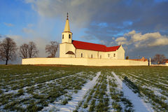 Slovak Church in village Pac Stock Image