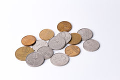 Slovak coins (Slovak Crowns) Stock Photo