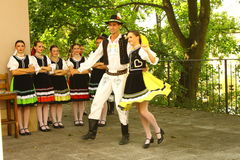 Slovak costume Stock Images