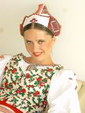 Slovak costume. Slovak ensemble on festival in Istanbul Royalty Free Stock Photography