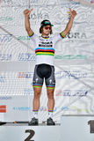 The Slovak and Czech national road cycling championship 2017. ZIAR NAD HRONOM, SLOVAKIA - JUNE 26, 2017: The Slovak and Czech National road cycling championship Royalty Free Stock Photography