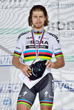 The Slovak and Czech national road cycling championship 2017. ZIAR NAD HRONOM, SLOVAKIA - JUNE 26, 2017: The Slovak and Czech National road cycling championship Royalty Free Stock Photos