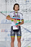 The Slovak and Czech national road cycling championship 2017. ZIAR NAD HRONOM, SLOVAKIA - JUNE 26, 2017: The Slovak and Czech National road cycling championship Royalty Free Stock Images