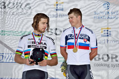 The Slovak and Czech national road cycling championship 2017 Stock Images