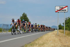 The Slovak and Czech national road cycling championship 2017 Royalty Free Stock Photography