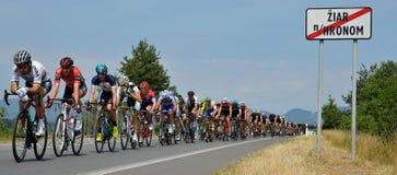 The Slovak and Czech national road cycling championship 2017. ZIAR NAD HRONOM, SLOVAKIA - JUNE 26, 2017: The Slovak and Czech National road cycling championship Stock Photos