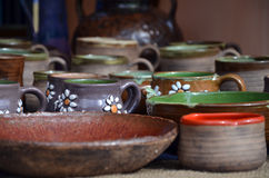 SLOVAK FOLK CERAMICS Stock Image