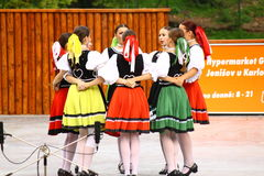 Slovak folklore dance. From eastern Slovakia Stock Images