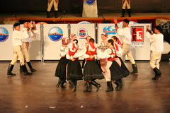 Slovak folklore dance. Horehronie in Istanbul Royalty Free Stock Photos