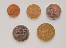 Slovak korunas coins Stock Photo
