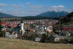 Zuberec, Zapadne Tatry, Slovakia. Slovak mountain village Zuberec in Western Tatras of Orava region - Slovakia stock image