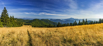 Slovak mountainous landscape Stock Photography