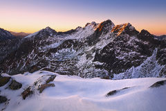 Slovak Mountains. Early morning in the High Tatras mountain range in Slovakia