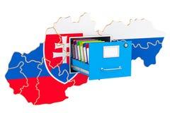 Slovak national database concept, 3D rendering. Isolated on white background Stock Photos